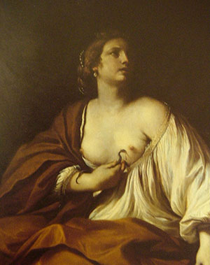 Fig. 17, Giovanni Francesco Barbieri detto Guercino, Cleopatra che si uccide, 1637-39, Ferrara, collezione privata