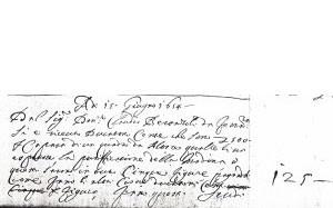 Fig. 21, Annotazioni dal Libro dei conti, Bologna, Biblioteca Comunale dell'Archiginnasio, ms. B 331