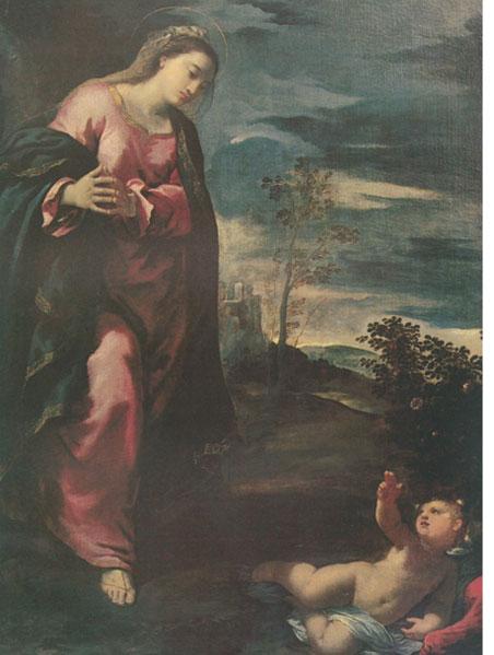 Fig. 16, Ippolito Scarsella detto Scarsellino, Vergine adorante il Bambino, datazione incerta, Londra, Matthiesen Fine Art Ltd
