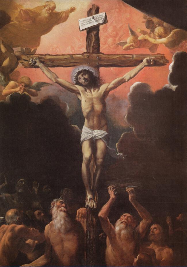 Fig. 5, Ludovico Carracci, La crocifissione con i patriarchi al Limbo, Ferrara, Santa Francesca Romana