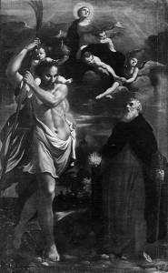Fig. 17, Carlo Bononi, Madonna col Bambino tra le nubi e i santi Sebastiano e Antonio Abate, Bologna, Museo di San Giuseppe