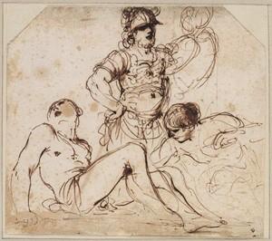 Fig. 15, Francesco Barbieri detto il Guercino, Studio per il Martirio di San Lorenzo, 1628 ca., Haarlem, Tylers Museum, inv. H 057