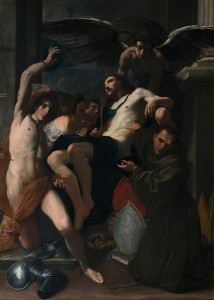 Fig. 8, Carlo Bononi, Cristo morto con i santi Sebastiano e Bernardino da Siena, 1618 ca., Parigi, Musée du Louvre