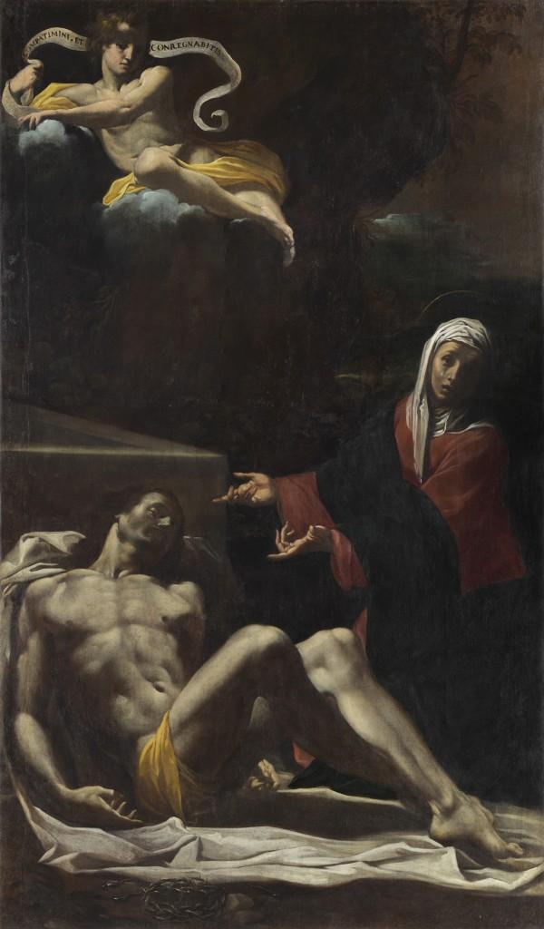 Fig. 14, Carlo Bononi, Pietà, 1622-24, Ferrara, chiesa delle Sacre Stimmate, primo altare a sinistra (in deposito presso Palazzo Arcivescovile)