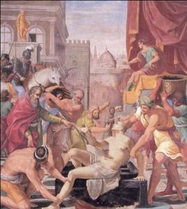 Fig. 13, Lucio Massari, Martirio di San Lorenzo, 1612-13, Firenze, Certosa del Galluzzo