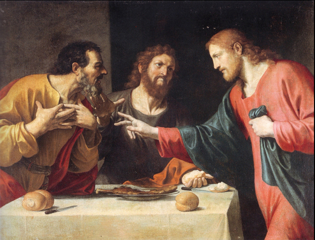 Fig. 16, Lucio Massari, Cena in Emmaus, 1620-1625, Modena, Collegio San Carlo