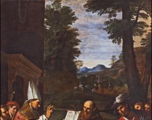 Fig. 17, Lucio Massari, Sant'Ugo vescovo di Lincoln libera un indemoniato, 1620-25, Ferrara, San Cristoforo della Certosa, particolare