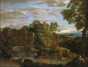 Fig. 18, Domenichino, Paesaggio con la fuga in Egitto, *, Parigi, Musée du Louvre