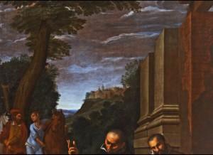 Fig. 19, Lucio Massari, Sant'Antelmo resuscita un uomo morso da una serpe, 1620-25, Ferrara, San Cristoforo della Certosa, particolare
