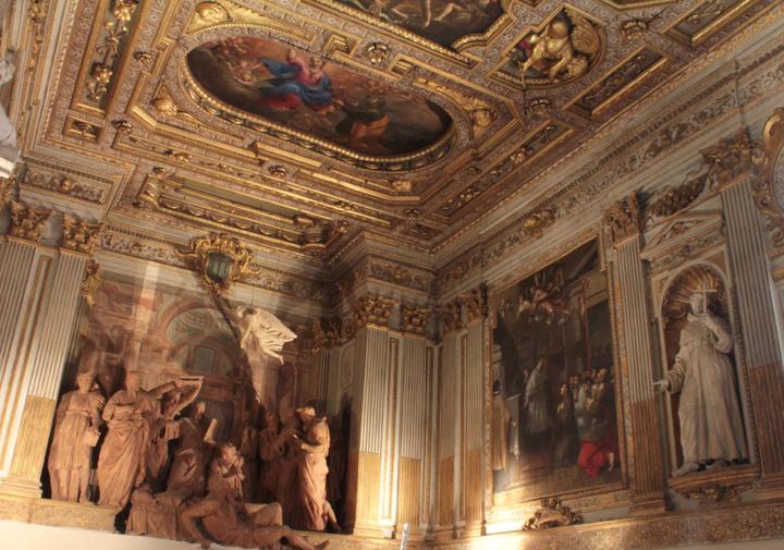 Fig. 20, Veduta dell'interno dell'Oratorio di Santa Maria della Vita a Bologna