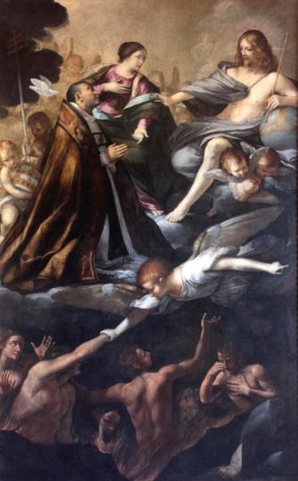 Fig. 22, Antonio Randa, Madonna del Suffragio con san Gregorio, 1628-1629, San Giovanni in Persiceto, Museo d'Arte Sacra