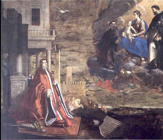 Fig. 28, Antonio Randa, Il podestà Pietro Morosini in adorazione della Vergine, 1644, Rovigo, Beata Vergine del Soccorso a Rovigo noto anche come Santuario della Rotonda
