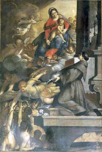 Fig. 30, Antonio Randa, Madonna del Suffragio e sant'Antonio, dopo il 1644, Comacchio, oratorio del Suffragio