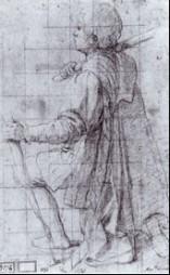 Fig. 9, Bartolomeo Cesi, Studio per una figura inginocchiata, 1620, Genova, Galleria di Palazzo Rosso, Gabinetto dei Disegni e delle Stampe, inv. D 1192