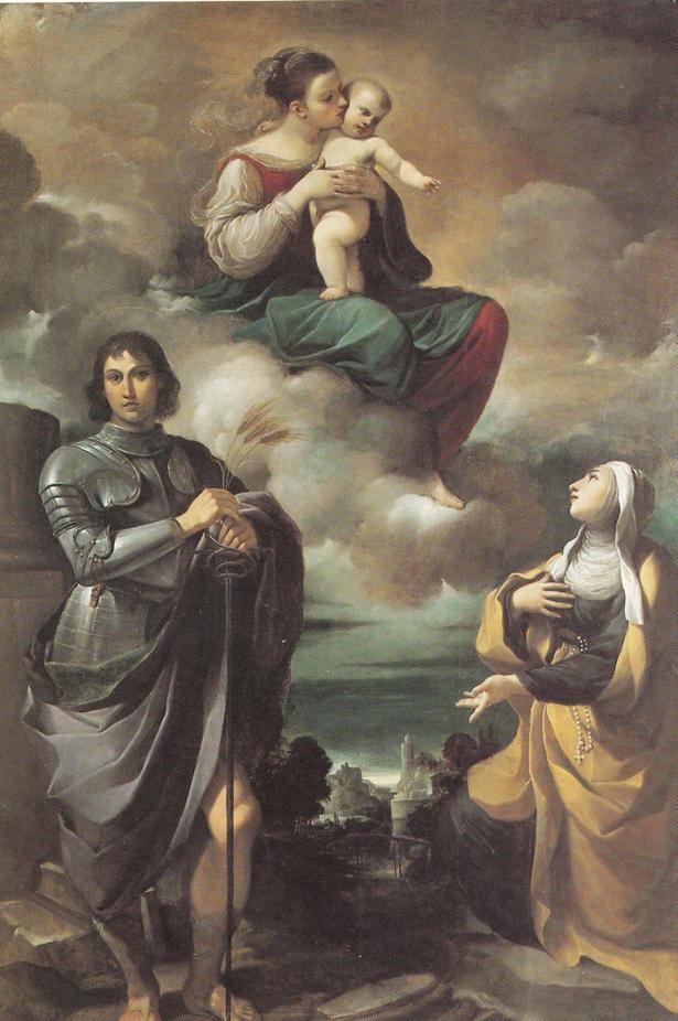 Fig. 5, Giovanni Francesco Barbieri detto Guercino, Madonna col Bambino in gloria, san Pancrazio e una santa monaca, 1615-16, Renazzo di Cento (Fe), San Sebastiano