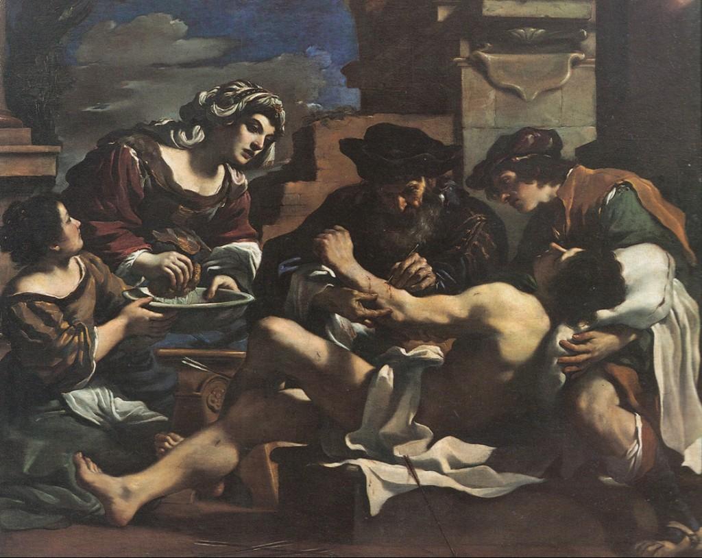 Fig. 7, Giovanni Francesco Barbieri detto Guercino, San Sebastiano soccorso, 1619, Bologna, Pinacoteca Nazionale