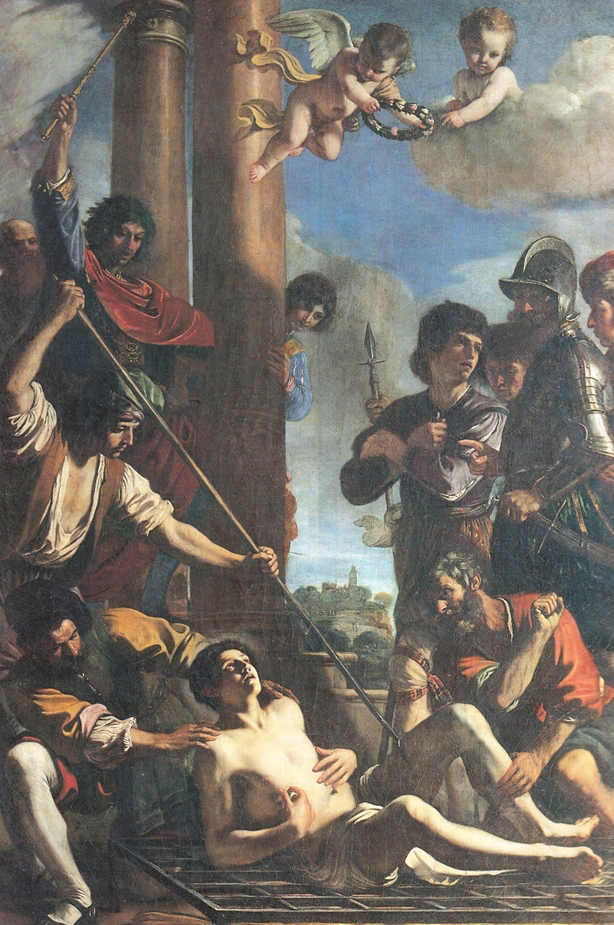 Fig. 10, Giovanni Francesco Barbieri detto Guercino, Martirio di San Lorenzo, 1628-29, Ferrara, Cattedrale