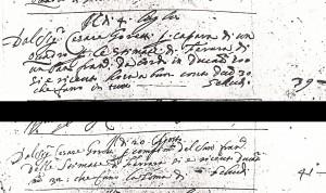 Fig. 13, Annotazioni dal Libro dei conti, Bologna, Biblioteca Comunale dell'Archiginnasio, ms. B 331