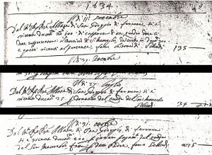 Fig. 15, Annotazioni dal Libro dei conti, Bologna, Biblioteca Comunale dell'Archiginnasio, ms. B 331