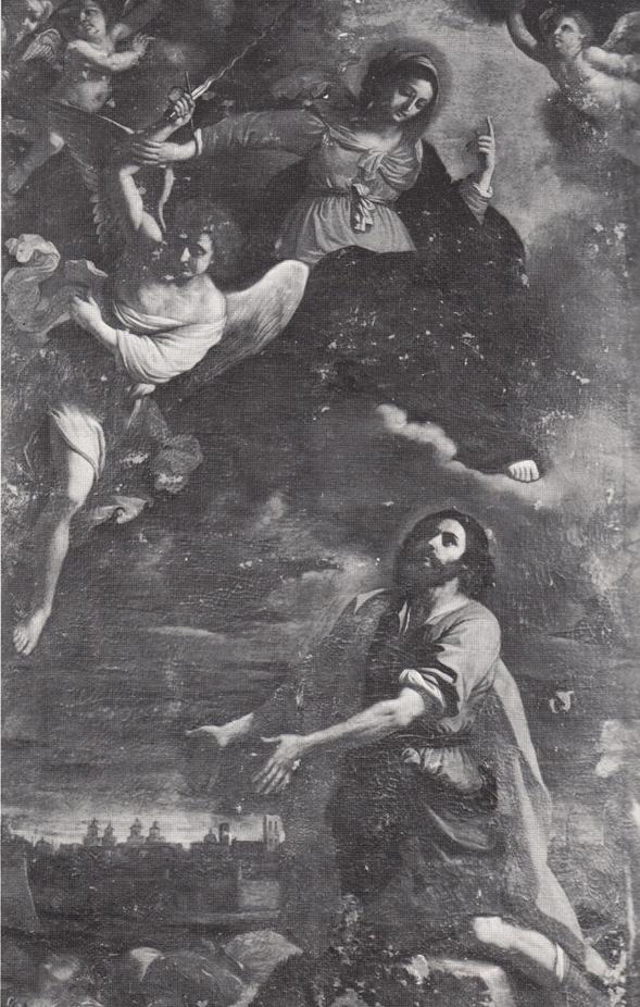 Fig. 16, Benedetto e Cesare Gennari (copia da Guercino), San Rocco implora la Vergine di liberare Ferrara dalla peste, 1668, Ferrara, Pinacoteca Nazionale