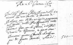 Fig. 22, Annotazioni dal Libro dei conti, Bologna, Biblioteca Comunale dell'Archiginnasio, ms. B 331