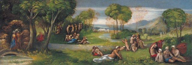 Fig. 2, Dosso Dossi, Discesa di Enea nei campi elisi, 1520 ca., Ottawa, National Gallery of Canada