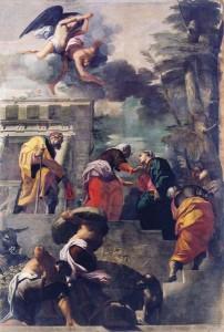 Fig. 4, Carlo Bononi, Visitazione, 1616-20, Ferrara, Santa Maria in Vado, transetto
