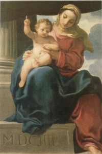 Fig. 5, Carlo Bononi, Madonna col Bambino, 1604, Modena, Collezioni d'Arte della Banca Popolare dell'Emilia Romagna