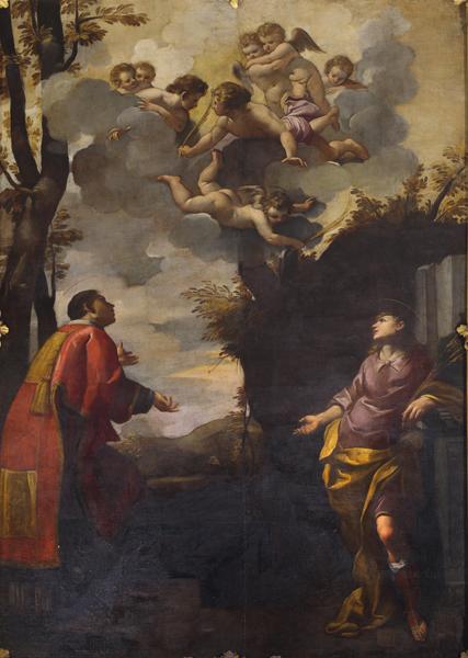 Fig. 6, Carlo Bononi, I santi Lorenzo e Pancrazio, 1608, Casumaro (Fe), San Lorenzo