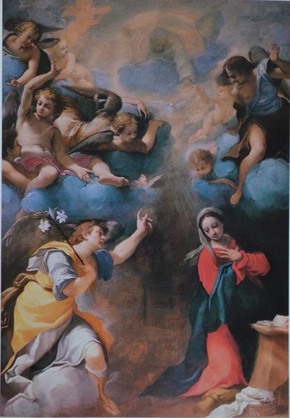 Fig. 7, Carlo Bonani, Annunciazione, 1611, Gualtieri (Reggio Emilia), chiesa parocchiale