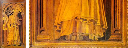Fig. 24, Antonio Pollaiolo e Giuliano da Maiano, Amos, Firenze, Santa Maria del Fiore, Sacrestia delle Messe, a destra particolare