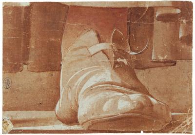 Fig. 1, Artista fiorentino della seconda metà del XV secolo, Studio di piede sinistro, Stoccarda, Staatsgalerie (già attr. a Francesco del Cossa)
