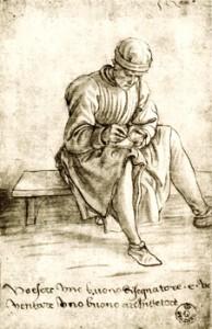 Fig.15, Maso Finiguerra, Giovane intento a disegnare, Firenze, Uffizi