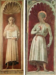 Fig. 16, Paolo Uccello, Beato Jacopone da Todi e San Girolamo, Prato, Duomo
