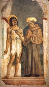 Fig. 20, Domenico Veneziano, San Giovanni Battista e san Francesco, Firenze, Museo di Santa Croce