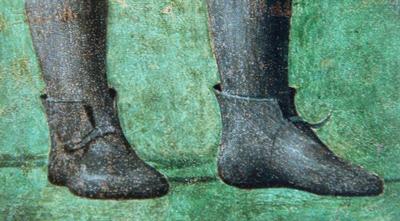 Fig. 20, Piero della Francesca, La regina di Saba adora il sacro legno (part.), Arezzo, San Francesco