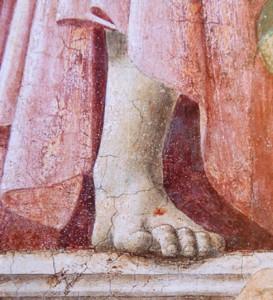Fig. 21, Piero della Francesca, Resurrezione (part.), Sansepolcro, Pinacoteca Comunale