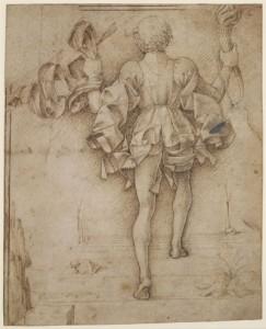 Fig. 3, Francesco del Cossa, Figura di paggio vista di spalle, Londra, British Museum