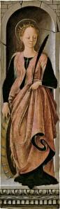 Fig. 5, Francesco del Cossa, Santa Caterina d'Alessandria, Barcellona, Museu Nacional d'Art de Catalunya