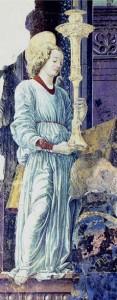 Fig. 6, Francesco del Cossa, Madonna col Bambino (part.), Bologna, Santa Maria del Baraccano