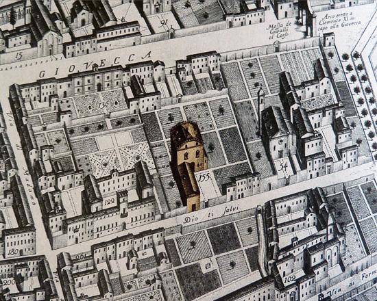 Fig. 15, Andrea Bolzoni, Pianta ed alzato della città di Ferrara…, 1747, Ferrara, Musei di Arte Antica