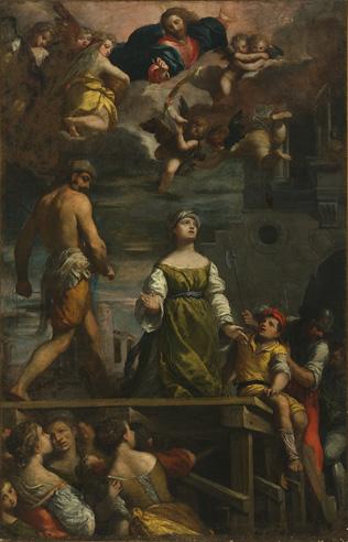 Fig. 4, Ippolti Scarsella, detto Scarsellino, Martirio di santa Margherita, 1611, Ferrara, Musei di Arte Antica, collezione Orfanotrofi