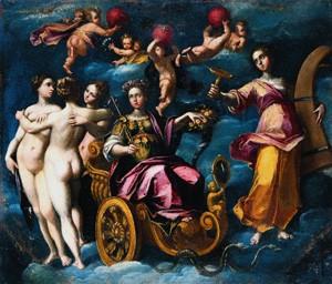 Fig. 5, Gaspare Venturini, Allegoria del Buon Governo, 1592-93, Modena, Banca popolare dell'Emilia Romagna