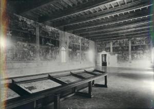 Il salone dei Mesi in una foto Vecchi-Graziani