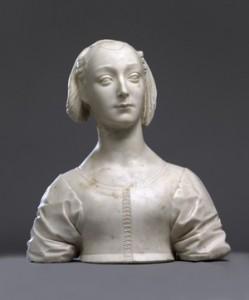 Fig. 10, Desiderio da Settignano, Ritratto di giovinetta (Marietta Strozzi?), 1460 ca., Berlino, Staatliche Museen
