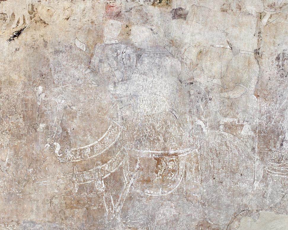 Fig. 19, Anonimo, Borso d'Este e Teofilo Calcagnini, 1469 circa, Ferrara, Palazzo Schifanoia, Salone dei Mesi, particolare di Febbraio