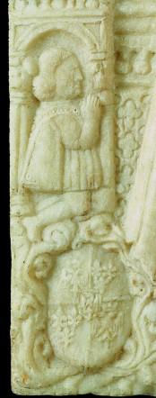 Fig. 2, Antonio di Pietro, Borso d'Este orante, particolare di fig. 1