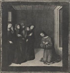 Fig. 5, Lorenzo Costa, Commiato di Cristo dalla madre, 1500 circa, collezione privata