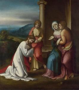 Fig. 6, Antonio Allegri detto Correggio, Commiato di Cristo dalla madre, 1513, Londra, National Gallery