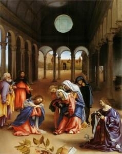 Fig. 7, Lorenzo Lotto, Commiato di Cristo dalla madre, 1521, Berlino, Staatliche Museeen, Gemäldegalerie